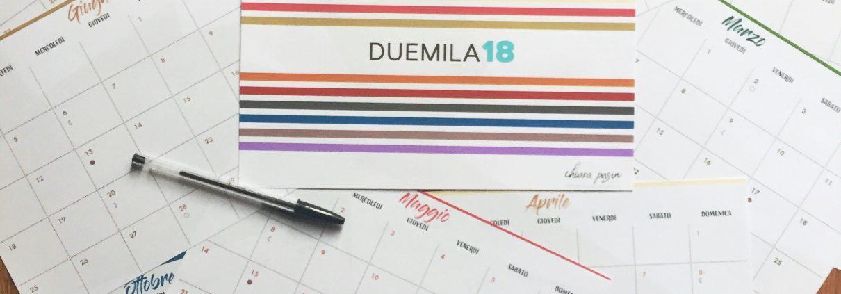 Calendario 2018 mensile
